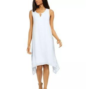 -NWT- JM Collection Lace Hankerchief Hem Dress